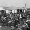 A beergarden at the Oktoberfest replacement 1920